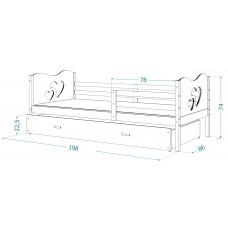 Bērnu gulta MAX P2 80x190