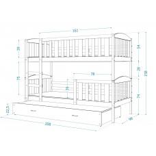 Bērnu gulta KUBUS 3 190x80
