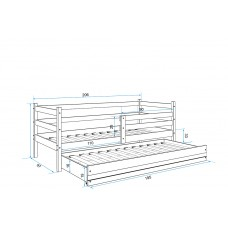 Bērnu gulta ERYK 2 2000x800