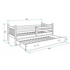 Bērnu gulta CARINO 2 190x80