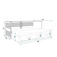 Bērnu gulta HERMES 80x200