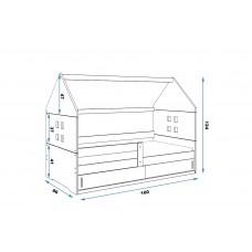 Bērnu gulta DOMI I 160x80