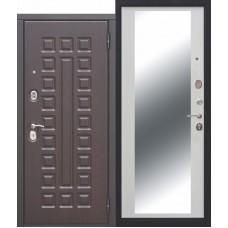 Metāla durvis ar MDF apdari un spoguli Monarh mirror