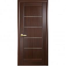 PVC Deluxe iekštelpu durvis MIRA Kastanis
