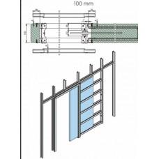 Iebūvējamās stikla durvis STRAS