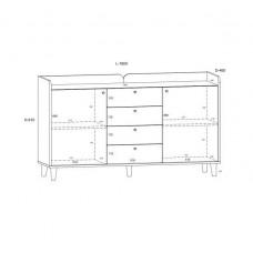 Sekcija ar tv galdiņu DOLCE 3