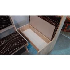Virtuves stūra komplekts ZESTAW ar taburetēm