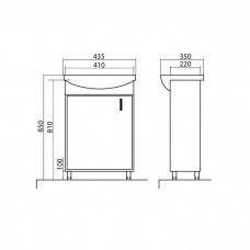 Izlientes un skapīša komplekts Décor 45,35cmx43.5cm