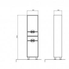 Augstais skapis Glorija 05GLPK( R),32.5cmx40cm