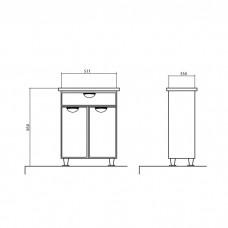 Izlientes un skapīša komplekts Glorija 05TN2,33.5cmx51cm