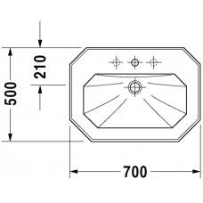 Izlietne 1930,41cmx60cm