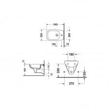 Bidē D-Code Compact,48cmx35cm