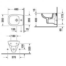 Bidē D-Code,54cmx35cm