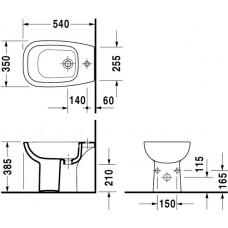 Bidē D-Code,56cmx36cm