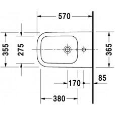Bidē Happy D.2,57cmx36.5cm
