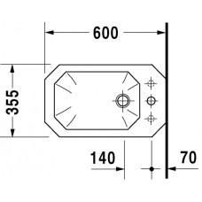 Bidē 1930,60cmx35.5cm
