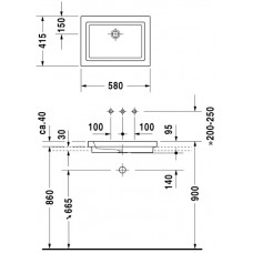 Izlietne 2Nd Floor,46cmx70cm