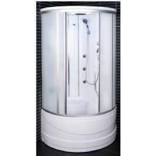 Masāža dušas kabīne 103x103x217cm (reljefa matēts stikls)