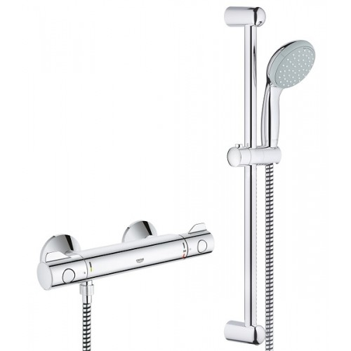 Dušas Termostats Grohetherm 800 Ar Dušas Komplektu 600 Mm