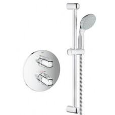 Iebūvētais Dušas Termostats Grohetherm 1000 New Ar Dušas Komplektu