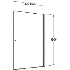 Dušas Siena Vannai Logic80cm