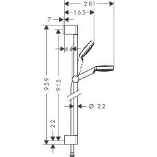 Dušas Komplekts Crometta 1Jet/Unica`Croma90cm
