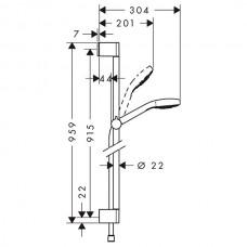 Dušas Komplekts Croma Select S 1Jet90cm