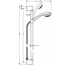 Dušas Komplekts Crometta 85 Green/Unica`Crometta60cm
