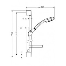 Dušas Komplekts Croma 100 1Jet/Unica`C90cm
