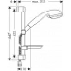 Dušas Komplekts Croma 3Jet/Unica`S90cm