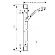 Dušas Komplekts Croma 100 Vario/Unica`C65cm