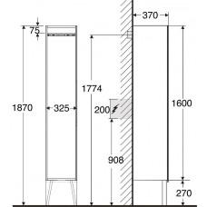 Augstais Skapis Silva,37cmx32cm