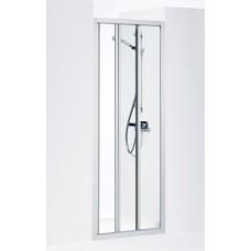 Dušas Durvis Solid Svs, Matēts sudrabs/caurspīdīgs stikls