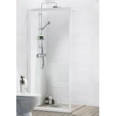 Dušas Siena Solid Sv30cm, Balts/caurspīdīgs