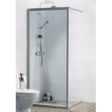 Dušas Siena Solid Sv30cm, Matēts sudrabs/tonēts stikls