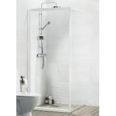 Dušas Siena Solid Sv90cm, Balts/caurspīdīgs
