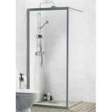 Dušas Siena Solid Sv90cm, Matēts sudrabs/caurspīdīgs stikls
