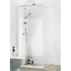 Dušas Siena Solid Sv90cm, Balts/ekrānstikls