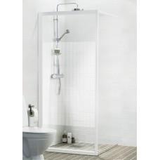 Dušas Siena Solid Sv90cm, Matēts sudrabs/tonēts stikls