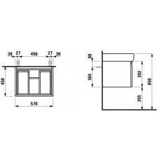 Izlietnes Skapītis Pro A,45cmx57cm