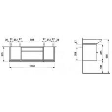 Izlietnes Skapītis Case For Palace,37.5cmx119.5cm