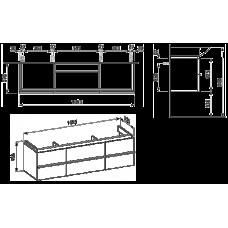 Izlietnes Skapītis Case For Palace,37.5cmx149.5cm