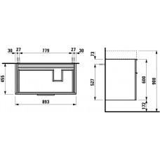 Izlietnes Skapītis Kartell,45.5cmx89.5cm