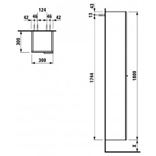 Augstais Skapis Kartell,30cmx30cm