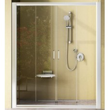 Dušas Durvis Nrdp4, 180cm, Balts/Caurspīdīgs Stikls