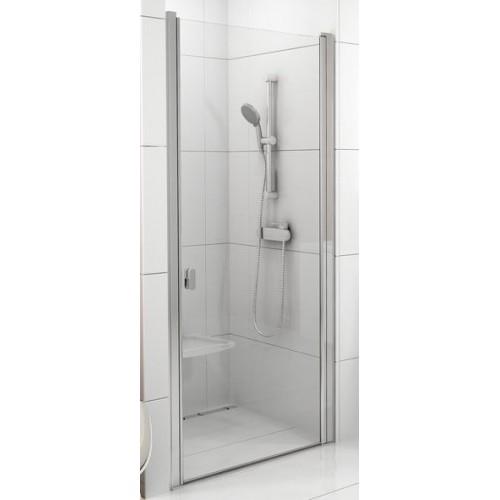 Dušas Durvis Csd1, 90cm, Balts/Caurspīdīgs Stikls
