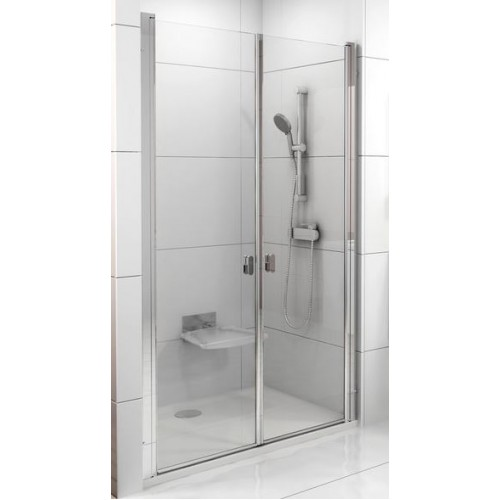 Dušas Durvis Csdl2, 90cm, Satīns/Caurspīdīgs Stikls