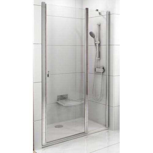 Dušas Durvis Csd2, 110cm, Balts/Caurspīdīgs Stikls