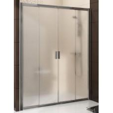 Dušas Durvis Bldp4, 150cm, Balts/Caurspīdīgs Stikls