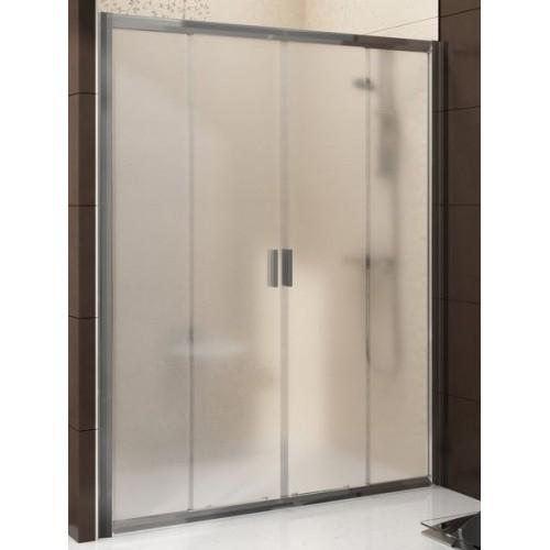 Dušas Durvis Bldp4,150cm,Balts/Caurspīdīgs Stikls